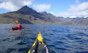 Sea kayaking in a Skye sea loch