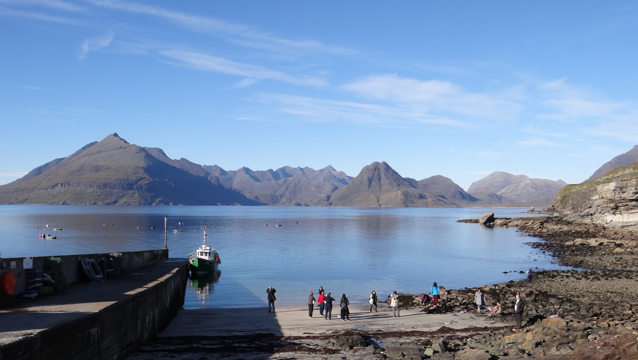 Port Elgol - half a mile from Springbank Cottage self catering holiday accommodation Elgol Isle of Skye